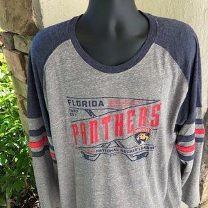 Florida Panthers NHL Hockey Shirt 2XL Blue Gray